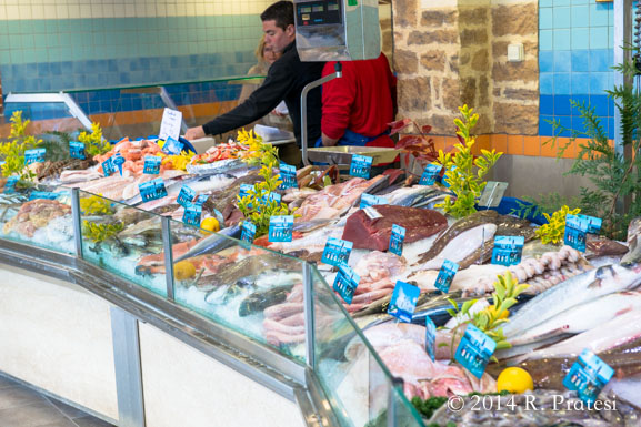 Fresh seafood is abundant in Normandy