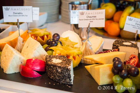 Daily cheese selections on board the ship