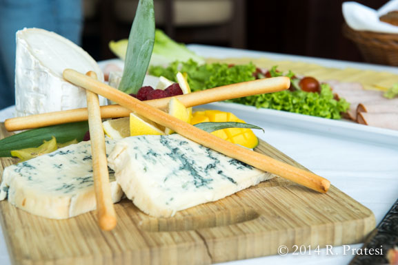 A tasting of Normandy cheeses and specialties on board the AmaLegro