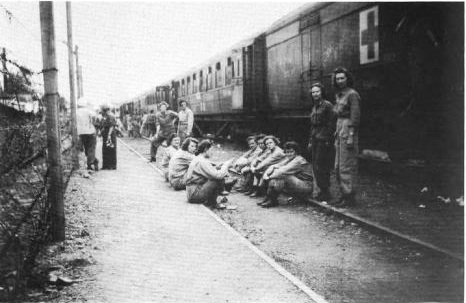 Train during the war