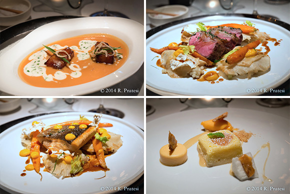 Several of our courses from dinner at Erna's Elderberry House