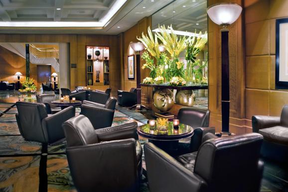 * The hotel's lobby