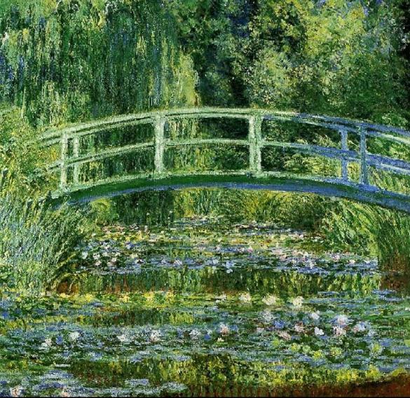 * Monet's painting of the bridge