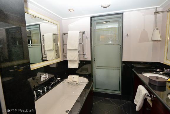 Black marble bathrooms