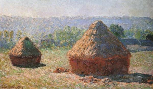 In the adjacent museum there is a study of painting with the haystacks to show the different lighting throughout the day