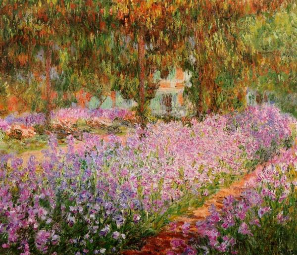 Monet's Irises in the Garden