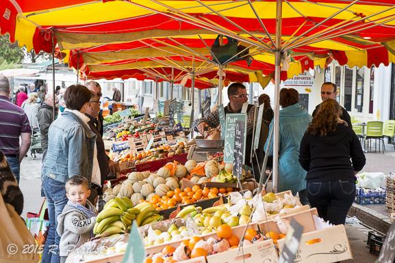 The market in Caudebec-en-Caux