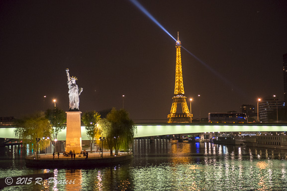 The Eiffel Tower twinkling for all of Paris to see