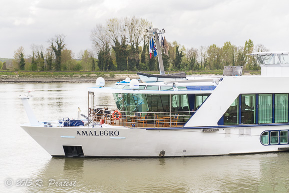 Our home for the week along the Seine - The beautiful AmaLegro
