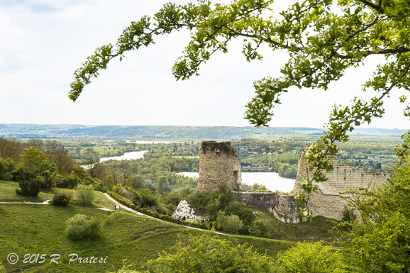 View overlooking the River Seine from Château Gaillard