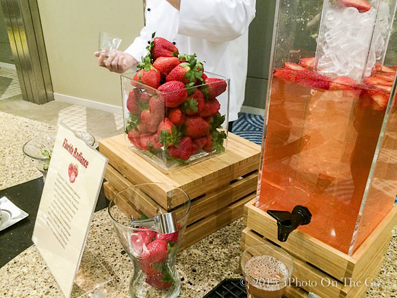 A breakfast treat - a tasting of 4 types of Florida strawberries