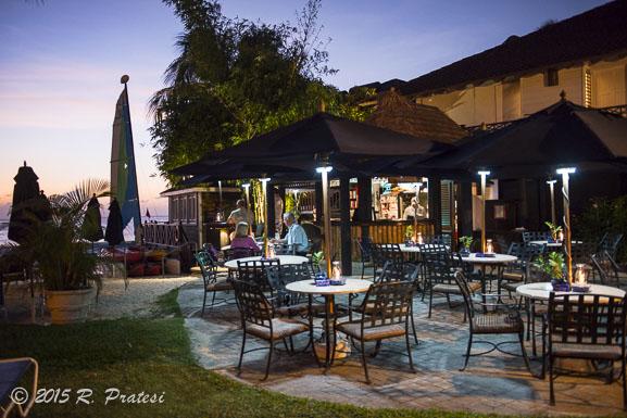 Harold's Bar at sunset