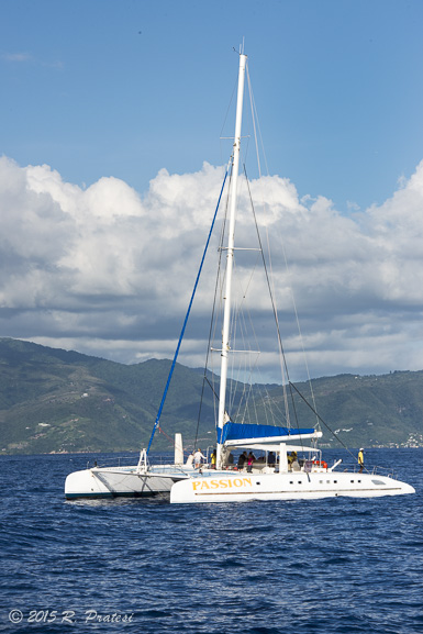 One of the best way to sail around the islands is by catamaran