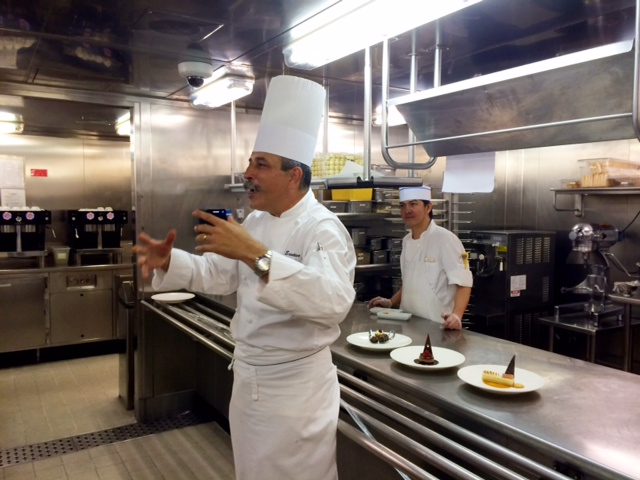 Touring the galley with Executive Chef Jerome Foussier