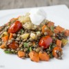 Lentils with Broiled Eggplant-2