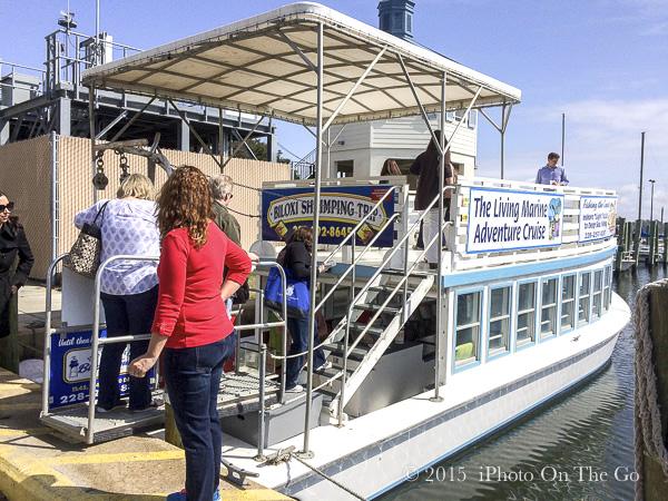 Touring the coast of Biloxi on a shrimping boat