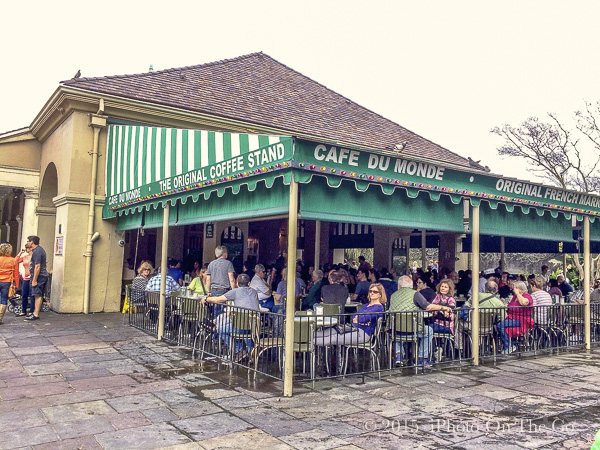 A must when in New Orleans - The original Cafe du Monde in the French Market