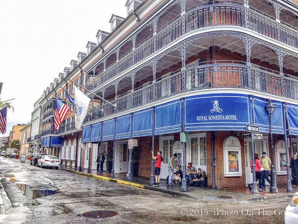 My home for the tour - The Royal Sonesta on Bourbon Street