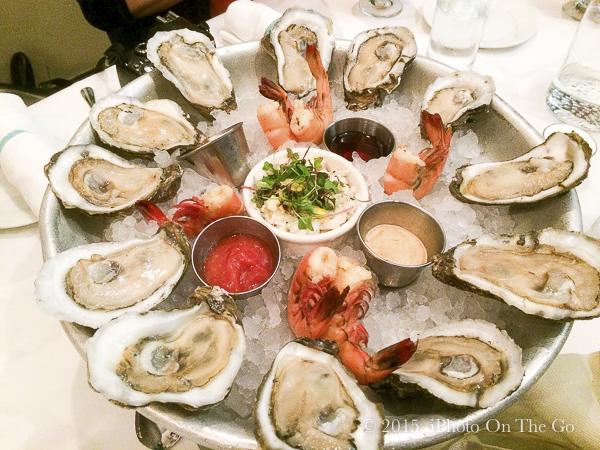 Fresh Gulf seafood platter at Lüke