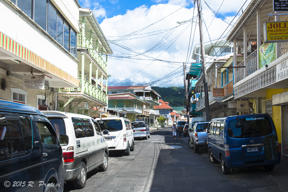 The town of Roseau in Dominica