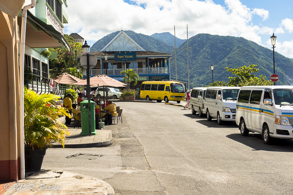 Taking a walk through the port town in Dominica