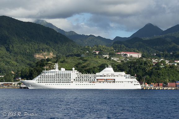 The Silver Whisper in St. Lucia