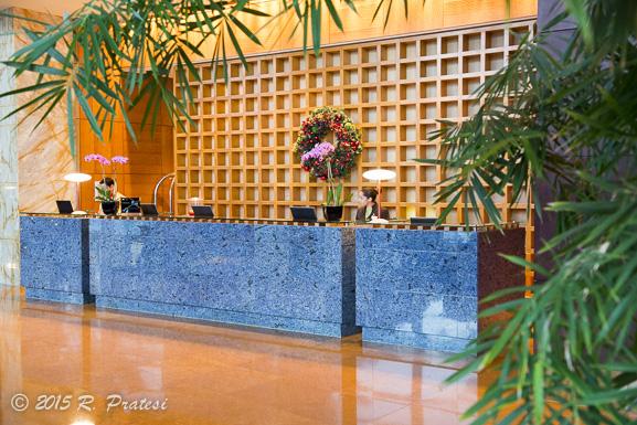 Reception desk in the lobby