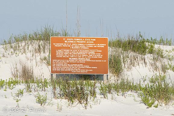 The beach is a wildlife preserve