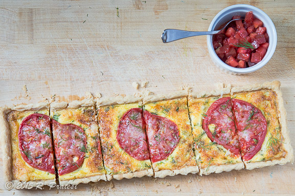 Serve the tart with fresh tomato salsa to highlight the flavor of the Cherokee Purple