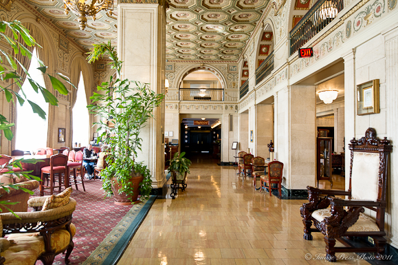 Lobby at The Brown Hotel