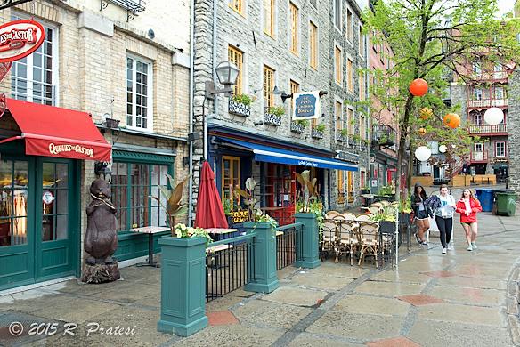 Cafés line the streets
