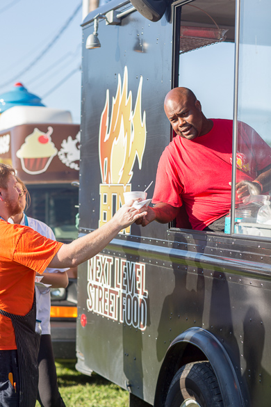 * Food truck offer great choices at Traffic Jam