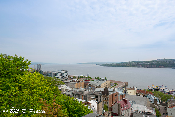 View of the St. Lawrence River and Port of Québec