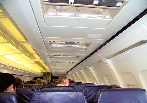 Your luggage should fit easily into the overhead bins