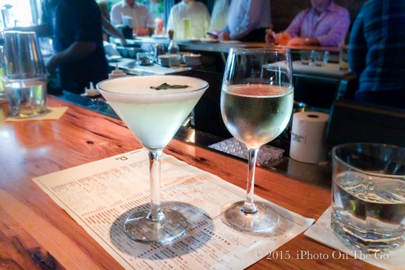 Start with drinks at the bar
