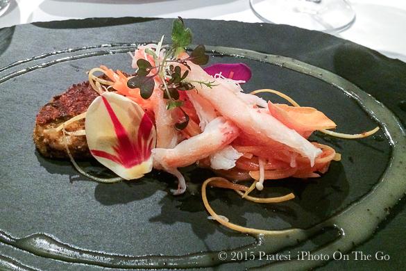 Crab appetizer at L'Échaudé