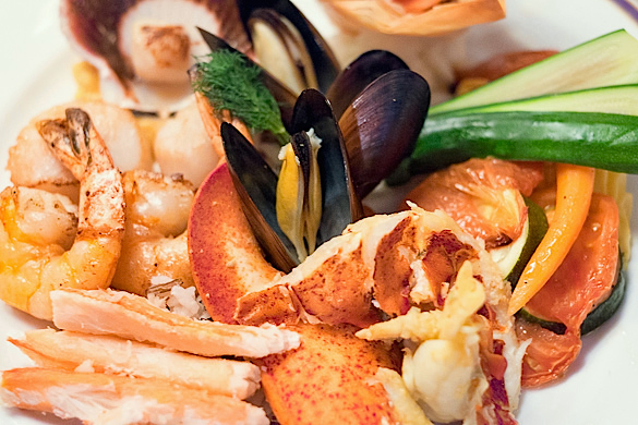 Seafood platter at Le Continental