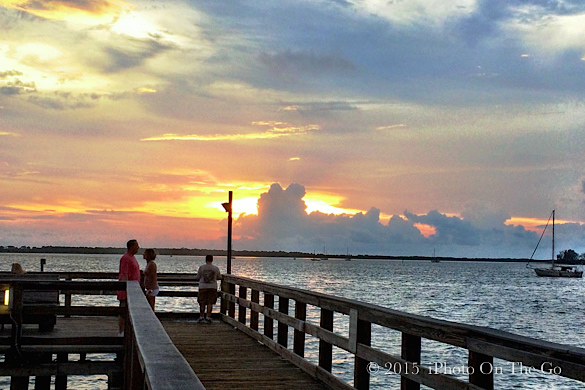 Sunsets are spectacular along the coast of Florida