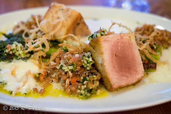 Seared Tuna at Chez Boulay Bistro