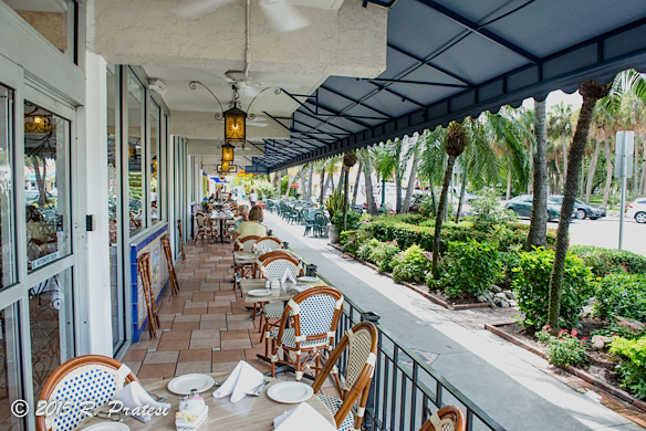Outdoor dining at Columbia Restaurant