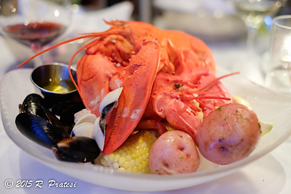 Classic steamed lobster boil