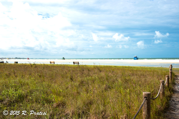 Walking out to the beach at Siesta Key