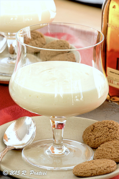 Serve the custard with gingersnaps or for adults, add in a little bourbon