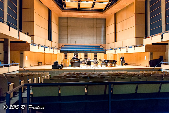 The concert hall has state-of-the art acoustics