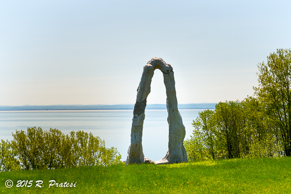 The Sculpture Garden overlooks the St. Lawrence River