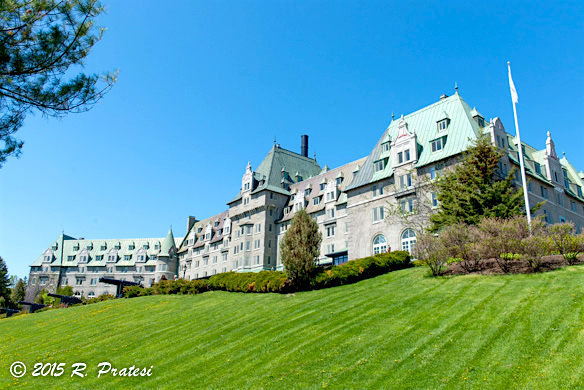 The impressive Fairmont Le Le Manoir Richlieu overlooking the St. Lawrence River