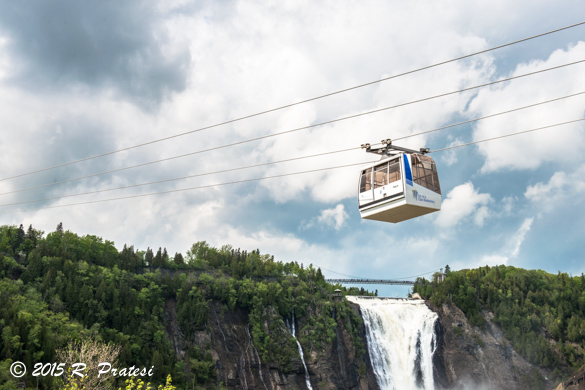 The cable car is one option to reach the top of the falls