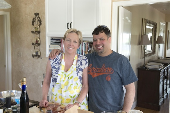 With Anthony in California for the filming of Moveable Feast with Fine Cooking