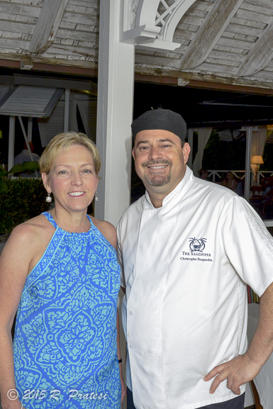 With Chef Christophe at dinner