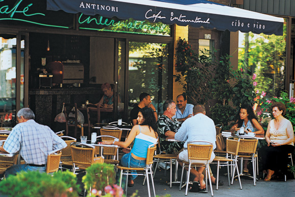 * Café International in Little Italy